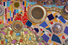 Colorful of mosaic and porcelain Royalty Free Stock Images
