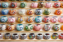 Colorful mosaic pots Stock Photo
