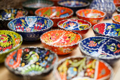 Colorful mosaic pots Stock Image