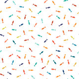 Colorful mosaic seamless pattern with minimalistic fishes icons. Vector memphis design. Similar to confetti Royalty Free Stock Photo