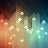 Colorful Mosaic. Shiny colorful mosaic background made of geometric pattern Royalty Free Stock Photography