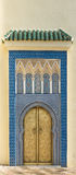 The colorful of mosaic of small door near Bab Dar Lmakhzen Royalty Free Stock Photo
