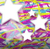 Colorful mosaic star Royalty Free Stock Image
