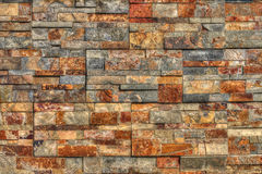 Colorful mosaic stone wall Royalty Free Stock Photos