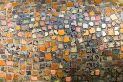 Colorful mosaic stones in the Great Garden of Dresden royalty free stock photography