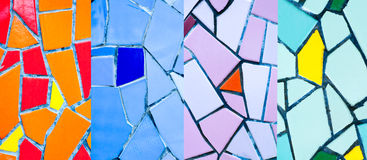 Colorful mosaic tiles Stock Photos