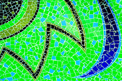 Colorful of Mosaic tiles Stock Photos
