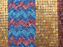 Colorful mosaic tiles. Colourful tiles of a mosaic on a decorative tomb Stock Photos