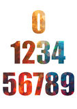 Colorful mosaic tiles numbers Stock Images