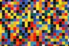 Colorful mosaic tiles pattern. On a wall Royalty Free Stock Photo