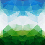 Colorful mosaic triangle background. This is file of EPS10 format Stock Photos