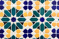 Colorful  mosaic wall Stock Photos