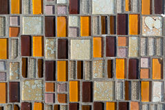 Colorful mosaic on the wall, abstract glass background Royalty Free Stock Photography