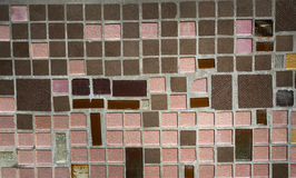 Colorful mosaic on the wall, abstract glass background Stock Photo