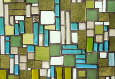 Colorful mosaic on the wall, abstract glass background Royalty Free Stock Image