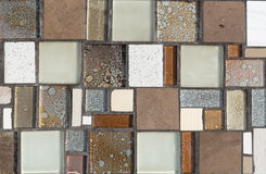 Colorful mosaic on the wall, abstract glass background Royalty Free Stock Photos