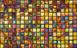 Colorful mosaic wall for background Royalty Free Stock Image