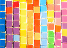 Colorful Mosaic Wall Stock Images