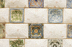 Colorful mosaic wall background texture Stock Image