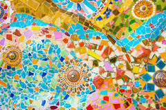 Colorful mosaic wall. Ceramic Art and colorful mosaic tile wall Royalty Free Stock Image