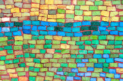 Colorful Mosaic Wall Royalty Free Stock Photography