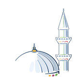 Colorful mosque drawing Royalty Free Stock Photo