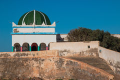 Colorful mosque on a hill, Morocco Stock Photography