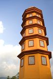 Colorful mosque minaret Royalty Free Stock Images