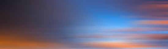 Colorful motion blur effect of sunset for background. Abstract background Stock Images