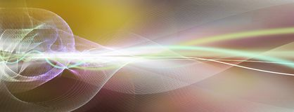 Colorful motion lines background. Colorful straight and curved motion lines on blurred horizontal background banner. Different line tones, hues and shades are Stock Illustration