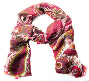 Colorful motley indian scarf isolated Stock Image