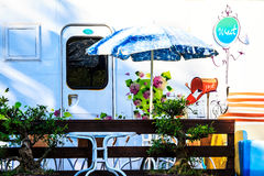 Colorful motorhome Royalty Free Stock Photo