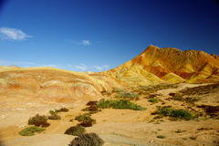 Colorful mountain and blue sky Stock Photography