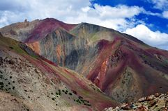 Colorful mountain from Ladakh, India Royalty Free Stock Images