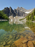 Colorful mountain lake. Beautifully colored mountain lake in the Canadian Rocky Mountains Stock Image