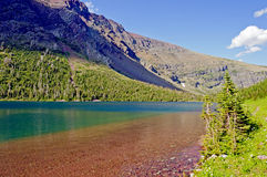 Colorful Mountain Lake on a Summer Day Royalty Free Stock Images