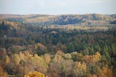 Colorful mountain landscape. Sigulda, Latvia royalty free stock images