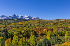 Colorful Mountain Landscape in Autumn Stock Photo