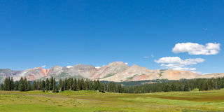 Colorful Mountain Range in the Colorado Rockies Royalty Free Stock Images