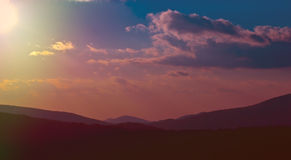Colorful Mountain Sky royalty free stock photography