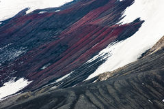 Colorful mountains. Mountains containing rich ores and minerals in Antarctica Stock Image
