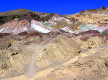 Colorful mountains along Artist Drive Royalty Free Stock Photography