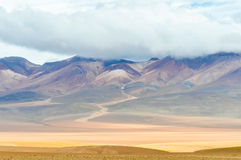 Colorful mountains in the High Andean Plateau, Bolivia Royalty Free Stock Image