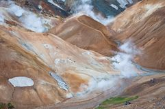 Colorful mountains in Iceland, all deserted Royalty Free Stock Photography