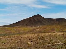 The colorful mountains on the island Fuerteventura Royalty Free Stock Photos