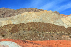 Colorful mountains of Nevada Royalty Free Stock Images