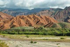 Colorful mountains of Quebrada de las Conchas, Argentina Stock Photography