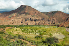 Colorful mountains of Quebrada de las Conchas, Argentina Royalty Free Stock Photography