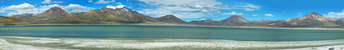 Colorful mountains in Salar de Surire Royalty Free Stock Photo