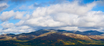 Colorful mountains in tundra Royalty Free Stock Photo